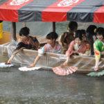 三船祭2018 京都、嵐山、混雑状況。