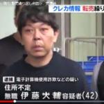 伊藤大輔容疑者の顔画像。ネットやカ-ド情報の事件多発に、レッドカ-ドを(ネットの意見も注目)…。